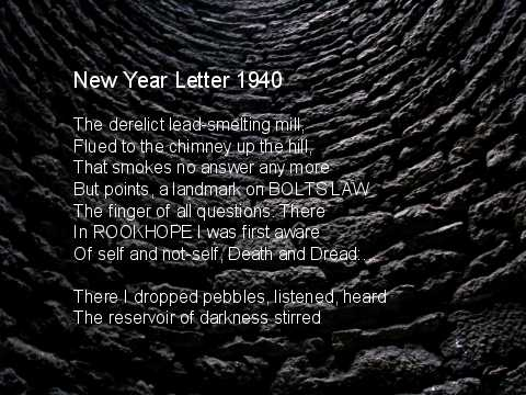 New Year Letter 1940