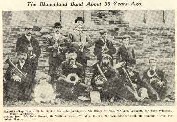 Blanchland Band in the mid-1890s