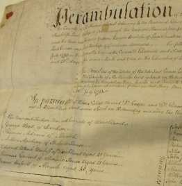 Perambulation document of 1793